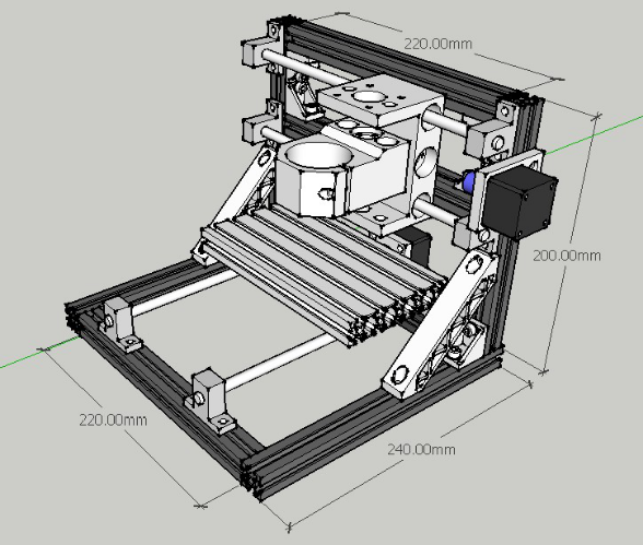 Diy Cnc 3 Axis Engraver Machine Pcb Milling Wood Carving
